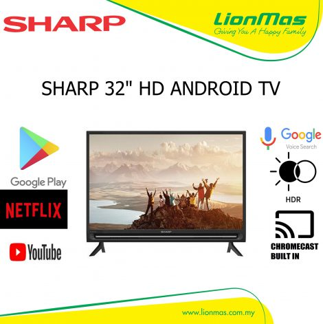 SHARP 32 INCH FULL HD ANDROID TV 2TC32BG1X
