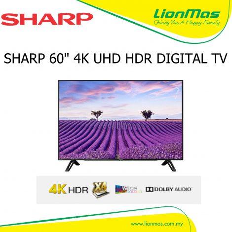 """SHARP 60"""" 4K HDR UHD LED TV 4TC60CH1X"""