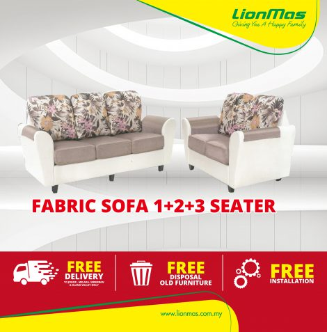 Vintage Floral Fabric Sofa 1+2+3 Seater