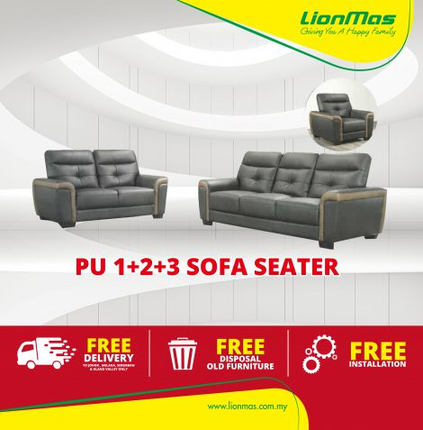 High Grade PU Sofa 1+2+3 seater
