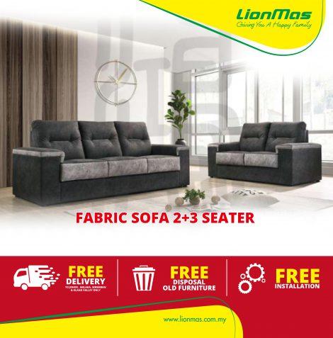 Modern Fabric Sofa 2+3 seater
